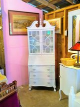 antique chalk paint bow front secretary in Cherry Point, North Carolina