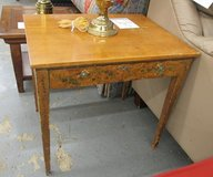 Hand-Painted Antique Side Table in Elgin, Illinois