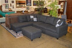 Gently Used Sectional w/ chaise and storage ottoman in Fort Lewis, Washington