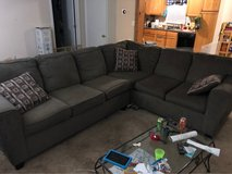 sectional couch and ottoman in Warner Robins, Georgia