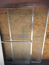 Glass shower doors w/ hardware for ( 5 foot tub shower ) in Alamogordo, New Mexico