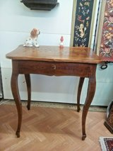 Antique Louis Philippe desk saloon table with drawer in Ramstein, Germany