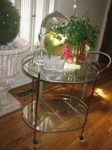 vintage RETRO glass BAR CART in Naperville, Illinois
