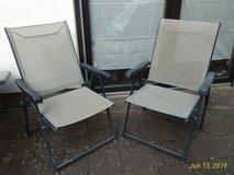 2 Folding Lawn Chairs with Paddings in Ramstein, Germany
