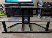 Glass tv stand entertainment center in Fort Campbell, Kentucky