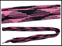 Brand New Fat Shoe Laces Pink x Black in Okinawa, Japan