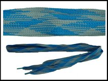 Fat Shoes Laces Blue x Gray Color (New) in Okinawa, Japan