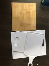 4 different sized cutting boards in Okinawa, Japan
