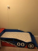 Race Car Toddler Bed with mattress in Fort Lewis, Washington