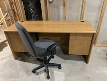 Sauder Desk with wheered chair in Joliet, Illinois