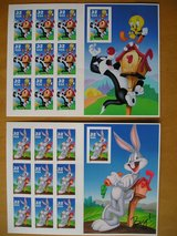 20 Warner Brothers US Postal Stamps in Chicago, Illinois
