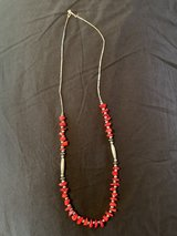 Coral beaded necklace in Fort Campbell, Kentucky