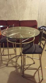 Glass pub Table w/ 2 chairs in Chicago, Illinois