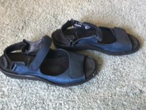 Women's Blue Leather Sandals in Travis AFB, California