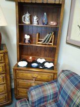 Small Oak Chest of Drawers with Upper Shelves in Bartlett, Illinois