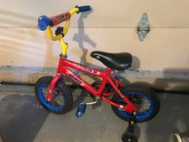 Little Boys Bicycle with training wheels in Bolingbrook, Illinois