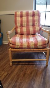 Fabulous French chair and ottoman in Beaufort, South Carolina