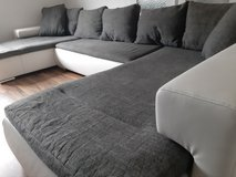 XXL u shape couch with pullout bed and storage in Ramstein, Germany