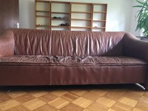 Leather 3-Seater Couch, 2-Seater Sofa, and Singe Seat Chair in Ramstein, Germany