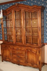 Ethan Allen Country French Dining Room China Cabinet in Glendale Heights, Illinois