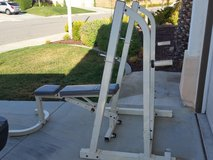 Gym rack and weights bench in Camp Pendleton, California