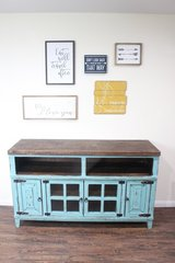 "Gorgeous Turquoise Rustic Tv Stand "" Tranquility "" in Houston, Texas"