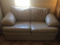 Tan leather couch in Alamogordo, New Mexico