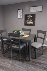 New Smoky Gray Table Ana chairs in Houston, Texas