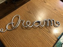 """DREAM"" Stainless Steel Script Wall Art in Glendale Heights, Illinois"