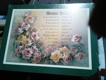"Wall plaque ""Home Rules"" new in Camp Lejeune, North Carolina"