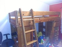 Solid wood bunk bed in Fort Rucker, Alabama