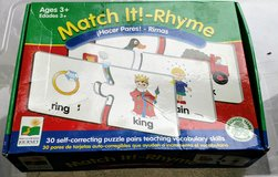 Match it Rhyme Puzzles in Glendale Heights, Illinois