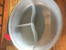 Tupperware container with lid has 3 individual sections in Chicago, Illinois