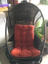 Hanging Chair (for out or indoor) with stand and seat cushion in Chicago, Illinois