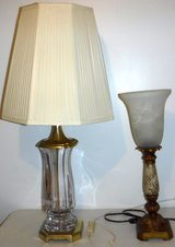 Lamp w/Glass Shade -OR- Vintage Crystal Lamp in Chicago, Illinois