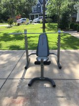 Weight bench and squat stand in Camp Lejeune, North Carolina