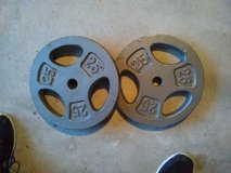 2 standard weight plates in Chicago, Illinois
