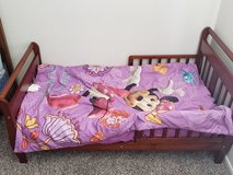 Minnie toddler bedding with sleigh bed in Chicago, Illinois