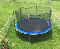 14 FT Bouncer Trampoline with safety net and pad. in Okinawa, Japan