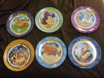 1997 McDonald's Limited Edition Disney Hercules Complete Set Of 6 Collector Plates Never Used in Okinawa, Japan