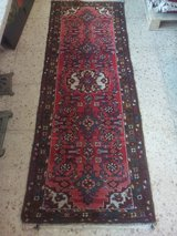 Old hand-knotted Orient Runner Carpet Rug about 208 x 75 cm in Wiesbaden, GE
