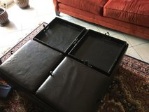 Leather Ottoman with storage space in Ramstein, Germany
