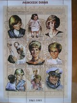 Princess Diana Commemorative Postage Stamps from Chad -250 franc in Chicago, Illinois