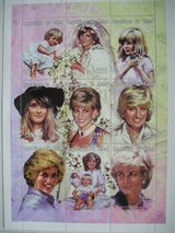 Princess Diana Commemorative Postage Stamps Chad 300 franc in Oswego, Illinois