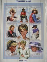 Princess Diana Commemorative Postage Stamps Chad 450 franc in Chicago, Illinois