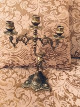French Brass Candelabra in Ramstein, Germany
