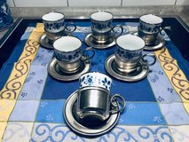 Porcelain and Pewter Tea Set in Ramstein, Germany