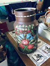 Hand-Painted Milk Can in Ramstein, Germany