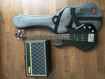 Bass Guitar with Amplifier and case in Stuttgart, GE