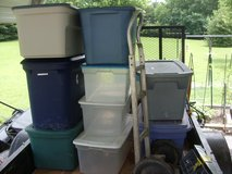 9 large totes in Fort Knox, Kentucky